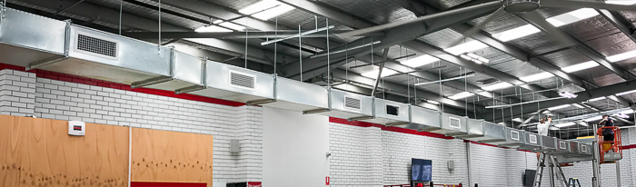 installing at Zap Fitness by Swan Air Conditioning Installation Melbourne